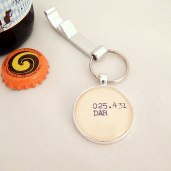 Darwin key ring, science gifts for men, beer opener key ring, mens key fob, stocking filler, gifts under 10, unique guy gift, atheist gift