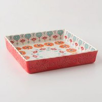 Poppy Ring Brownie Dish by Anthropologie Orange Square House & Home