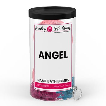 ANGEL Name Jewelry Bath Bomb Tube