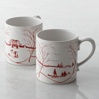 Two Country Estate Winter Frolic Mugs - Juliska