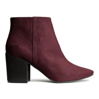 H&M - Ankle Boots - Burgundy - Ladies