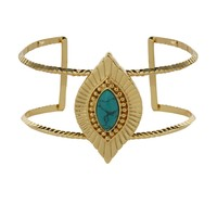 Sedona Selfie Cuff in Turquoise and Gold