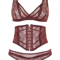 Lace Mesh Bralet and Knickers Set | Topshop