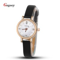 Fashion Leather Watch For Gilrs Women Analog Watches Elegant Casual Major Wristwatch Clock Small round dial mini Reloje hot sale