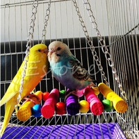 1 pcs High Quality Pet Products Bird Pet Parrot Parakeet Budgie Cockatiel Cage Hammock Swing Toys Hanging Hot Free Ship