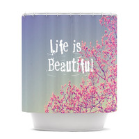 "Rachel Burbee ""Life is Beautiful"" Shower Curtain"