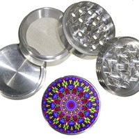 Fashion Weed Design Indian Aluminum Spice Herb Grinder Item # 110514-0006