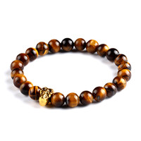 Natural Stone Skull Bracelets& Bangles Beads Buddha Charm Bracelet For Women 2015 Bracciali Pulseras Men Jewelry