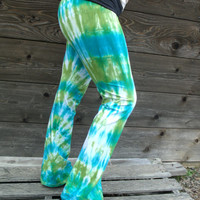New Tie Dyed Yoga Pants-Size Large