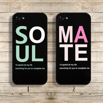 Couple phone case Lover phone case Couple case lover case Matching phone case for iphone4/4s iphone5/5s galaxy s3 s4 (Set of 2)