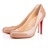 Best Online Sale Christian Louboutin Cl Simple Pump Nude 6248 Patent Leather 100mm Stiletto Heel Classic