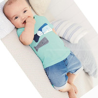 2017 Summer Style Infant Clothes Baby Clothing Sets two small fish model Cotton Short Sleeve Tshirt +jeans 2pcs Baby Boy Clothes