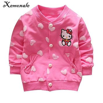 Xemonale 2017 New Children Clothing Baby Girls Fashion Jacket Coat Kid Child Jacket Kids Autumn Outwear