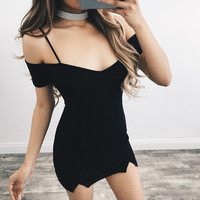 Short Sleeve Summer Sexy Spaghetti Strap Slim Dress One Piece Dress [11423627535]