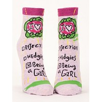 Being a Girl Women's Ankle Socks in Pink
