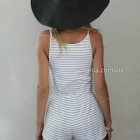 FADED STRIPES PLAYSUIT , DRESSES, TOPS, BOTTOMS, JACKETS & JUMPERS, ACCESSORIES, $10 SPRING SALE, PRE ORDER, NEW ARRIVALS, PLAYSUIT, GIFT VOUCHER, $30 AND UNDER SALE, SWIMWEAR,,JUMPSUIT Australia, Queensland, Brisbane