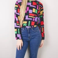 Vintage Abstract Retro Blouse
