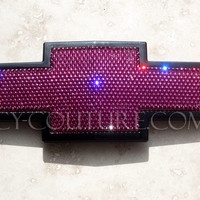 Crystal PINK BLING CHEVY Bow Tie Emblems