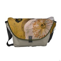 White Poppies Commuter Bags