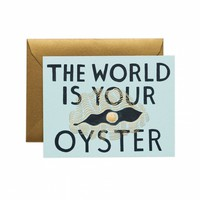 The World is Your Oyster Greeting Card by RIFLE PAPER Co. | Made in USA