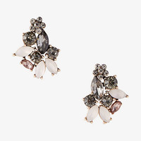 Mini Flower Mixed Stone Post Earrings from EXPRESS
