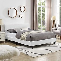 Anya Full Fabric Bed with Wood Slat Support