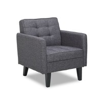 Harper Modern Tufted Grey Accent Chair - 19159911 - Overstock - Great Deals on US Pride Furniture Living Room Chairs - Mobile