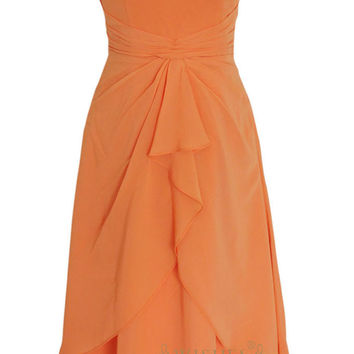 A-line Knee length Bridesmaid Dress For Wedding Am140