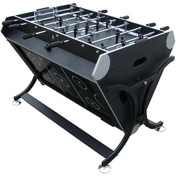 Trademark Games? 7 in 1 Rotating Game Table Black and Silver