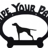 Wipe Your Paws English Pointer Metal Sign