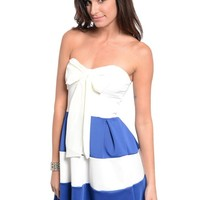 Bow Front Royal Blue or Yellow Dress