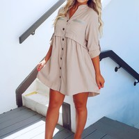 A Girl Like You Dress: Beige