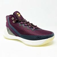 Under Armour UA Curry 3 Magi Burgundy Gold 1269279 543 Mens Basketball Shoes