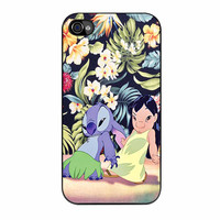 Lilo And Stitch Dancing Floral iPhone 4 Case