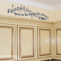 If Music Be The Food of Life Play On Vinyl Wall Art by showcase66