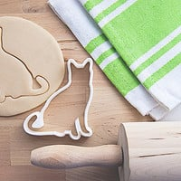 Cat Cookie Cutter With Built-In Handle Design (3D printed)