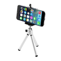 Universal Mini Tripod Aluminum Metal Lightweight Tripod Stand Mount For Phone With Phone Clip Tripod for iPhone 6 7 6s 5s new