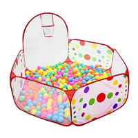 90cm, 120cm and 150cm Foldable Kids Children Ocean Ball Pit Pool Ball Play Toys Tent Pop up Hexagon Polka Dot Children Ball Play Pool Tent