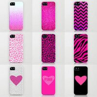 Crazy About Pink Phone Cases by M Studio - FREE SHIPPING - SOLD SEPARATELY - iPhone 3G, 3GS, 4, 4S, 5/iPod Touch 5/Galaxy S4