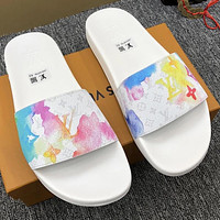 LV Louis Vuitton new fashion trend casual men's and women's slippers beach shoes sandals