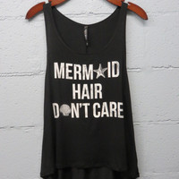 Mermaid Hair Don't Care Top: Black