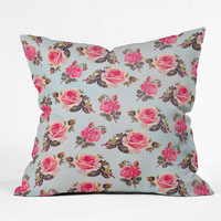 Deny Designs Pink Rose Throw Pillow Pink One Size For Women 24758635001