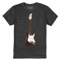 Vintage Guitar-Unisex Heather Onyx T-Shirt