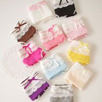 Days of the Week Lace Panty Knickers Briefs Lingerie