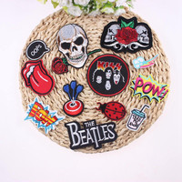 1Pcs DIY Mixture Sell Applique Punk Rock Patch Badges For Clothes Stickers Iron On Cheap Embroidered Motorcycle Biker Patches