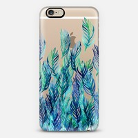 Jungle Rising - blue on transparent iPhone 6 case by Micklyn Le Feuvre | Casetify