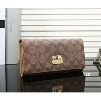 Coach Women Fashion Leather Wallet Purse