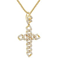 New Men's  Religious Cuban Cross Custom Pendant