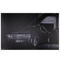 """LED Lighted Black Chevelle SS Classic Car Canvas Wall Art 15.75"""" x 23.75"""""""