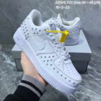 DCCK2 N1136 Nike WMNS Air Force 1 07 Stars Pack af1 Casual Sports Skate Shoes White Sliver